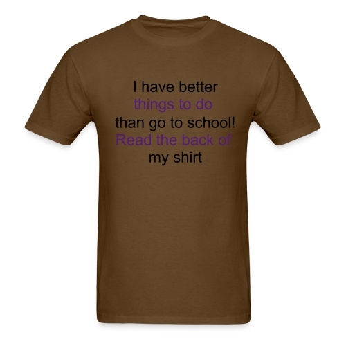 Brown- Waterfallgirl2 Back-To-School T-shirt - Men's T-Shirt
