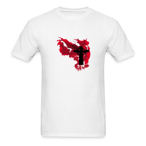 Flaming Cross - Men's T-Shirt