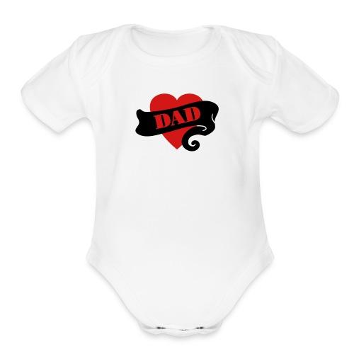 Dad Heart - Organic Short Sleeve Baby Bodysuit