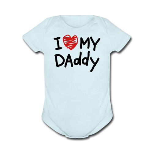 Dad Heart - Organic Short Sleeve Baby Bodysuit