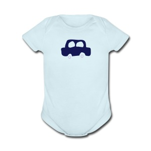 Dad Heart - Short Sleeve Baby Bodysuit