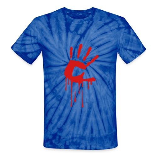 Bloody Hand Tie-Dye - Unisex Tie Dye T-Shirt
