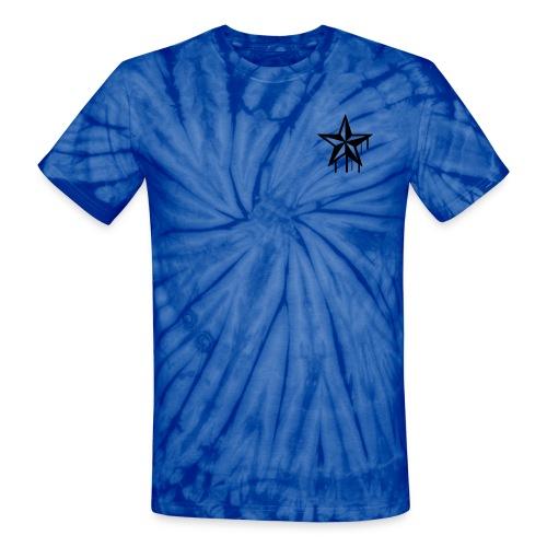 Star-Blue Tie-Dye - Unisex Tie Dye T-Shirt