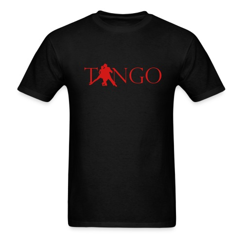 Men's Relaxed Fit T (Blk/Red) - Men's T-Shirt