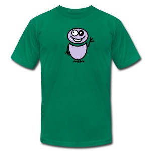 Kelly green funny man (2c) T-Shirts - Men's T-Shirt by American Apparel