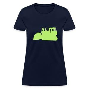 Bulldozer Blue/Green - Women's T-Shirt