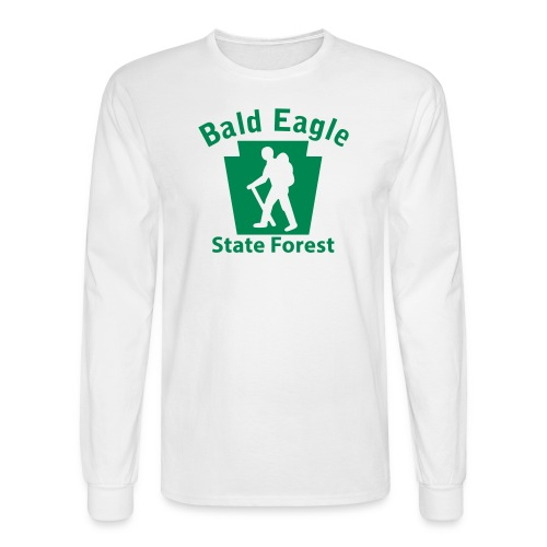 Bald Eagle State Forest Keystone Hiker (male) - Men's Long Sleeve T-Shirt