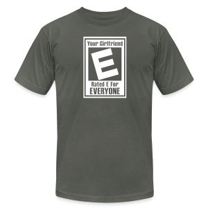 Your Girlfriend Is Rated E For Everyone - Men's Fine Jersey T-Shirt