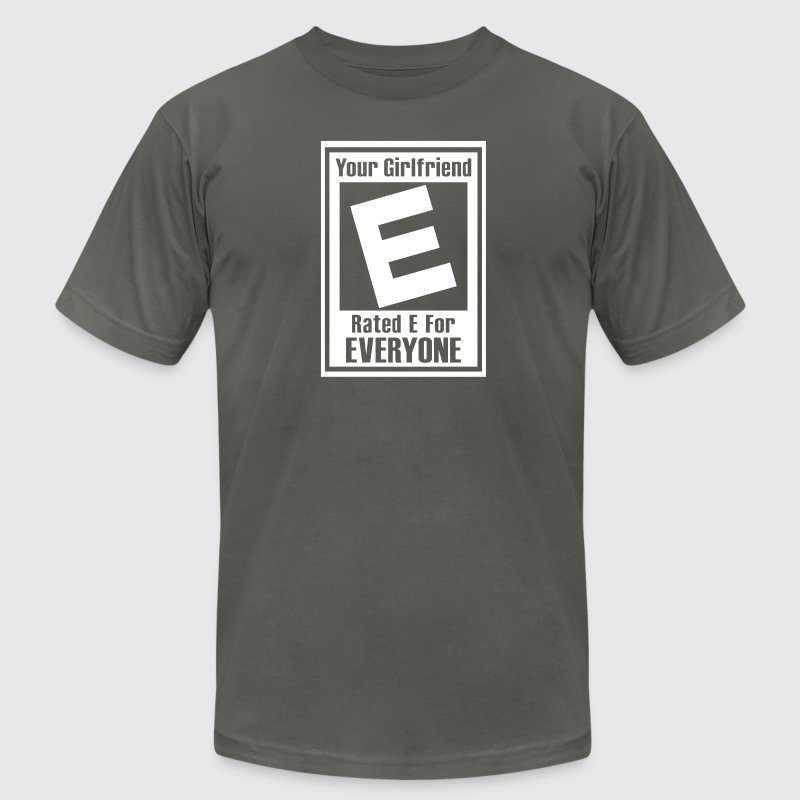 Asphalt Rated E For Everyone T-Shirts - Men's T-Shirt by American Apparel
