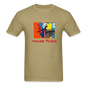 house music khaki tee - Men's T-Shirt