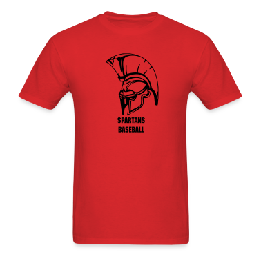 Red trojans or spartans custom sports graphic T-Shirts