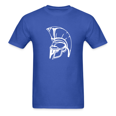Royal blue trojans or spartans custom sports graphic T-Shirts