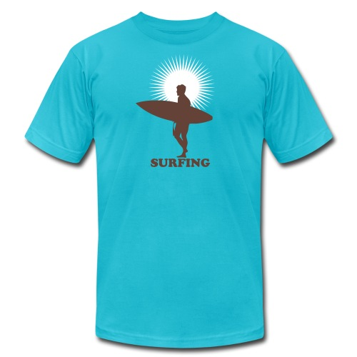 Surfer Surfing and Sunshine - Men's  Jersey T-Shirt