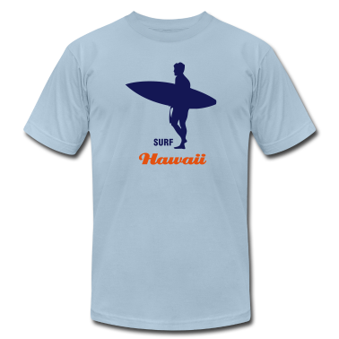 Light blue Surf Hawaii or surf the interent T-Shirts