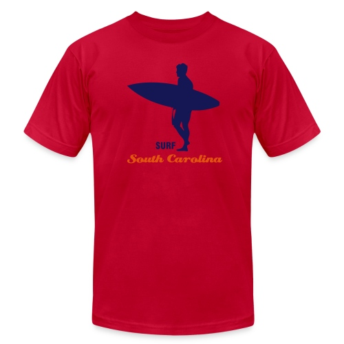 Surfer Surfing the South Carolina - Men's  Jersey T-Shirt