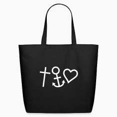 Black Love Hope Faith Happiness Bags