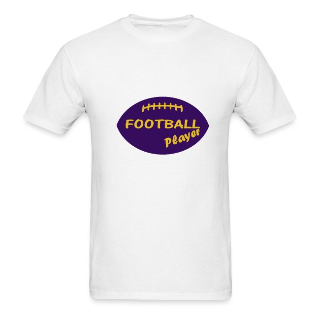 "T-Shirt ""FOOTBALL-Player"" yellow on purple"