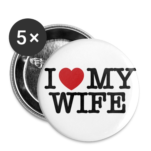 I Love My Wife Small Buttons - Small Buttons