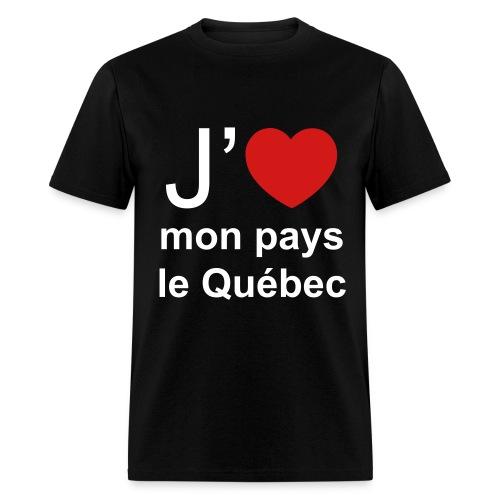 T-Shirt 100% Pro-Québec! Version Noir - Men's T-Shirt