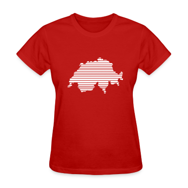 Red Switzerland Women's T-Shirts