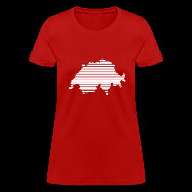 Red Switzerland Women's T-Shirts