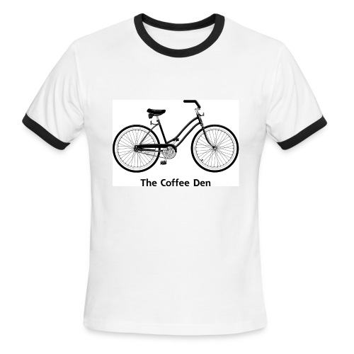 Coffee Den Bike - Men's Ringer T-Shirt