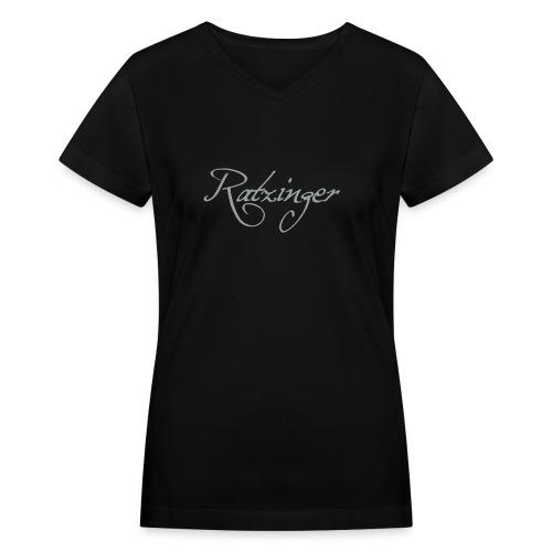 Ratzinger - Women's V-Neck T-Shirt