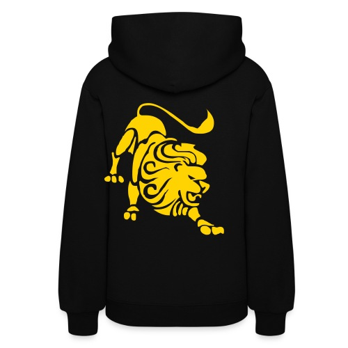 Women's Hoodie - black hoodie with yellow lion