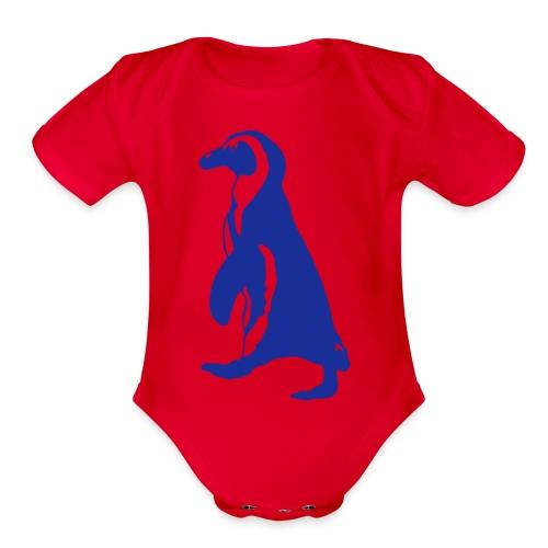 penguin baby suit - Organic Short Sleeve Baby Bodysuit