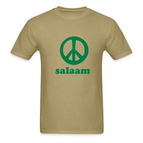 Salaam Peace T-Shirt Economy Khaki - Men's T-Shirt