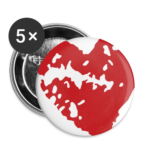 Love Badge - Big 56 mm - Large Buttons