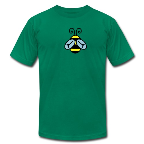 Green Be Worthy Bee Tee - Men's Fine Jersey T-Shirt