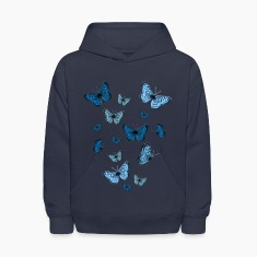 Navy Blue Butterflies Sweatshirts