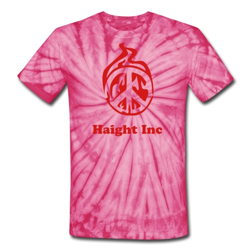 burning peace tie die haight inc - Unisex Tie Dye T-Shirt