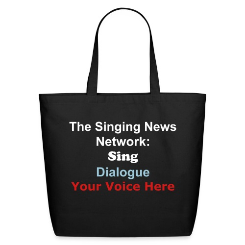 The Singing News Network Eco-Friendly Cotton Tote black - Eco-Friendly Cotton Tote