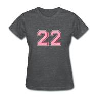 T-Shirts ~ Women's T-Shirt ~ LUCKY NUMBER 22 T-Shirt