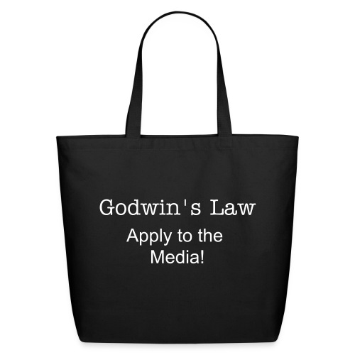 Godwin's Law Canvas Tote Bag - Eco-Friendly Cotton Tote