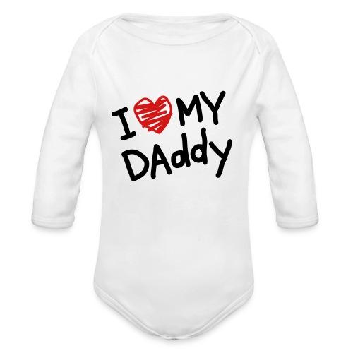 love dad - Organic Long Sleeve Baby Bodysuit