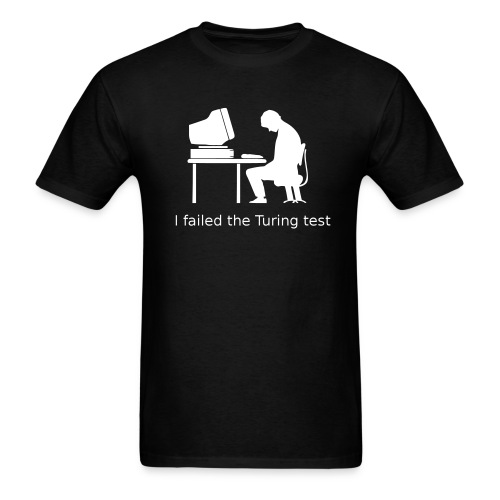 Turing test Tee (on Dark Choice) - Men's T-Shirt