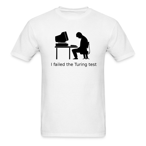 Turing test Tee (on Light Choice) - Men's T-Shirt