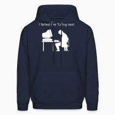 Navy Turing test Hoodies