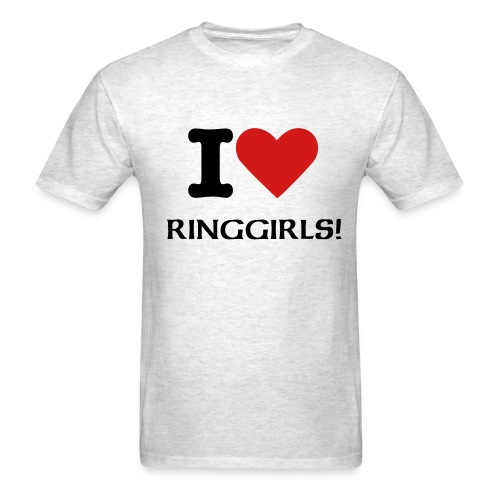 I heart RingGirls - Men's T-Shirt