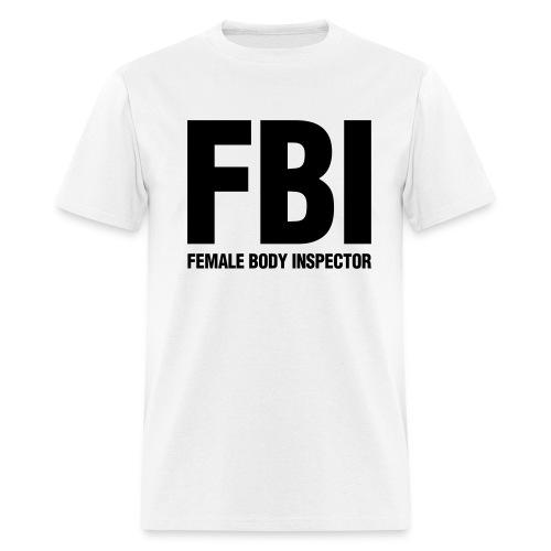 Female Body Inspecdtor (White/Front Print) - Men's T-Shirt