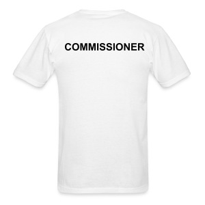 Commissioner (White/Back Print) - Men's T-Shirt