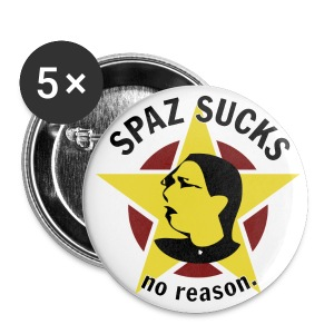 Spaz Sucks! buttons - Small Buttons