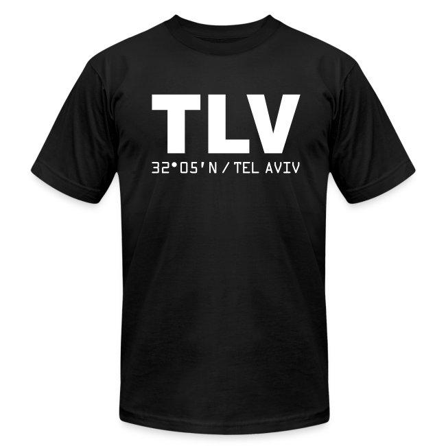 Tel Aviv airport code Israel TLV men's t-shirt