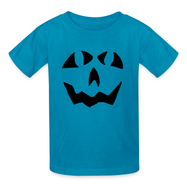 Orange pumpkin face Kids' Shirts