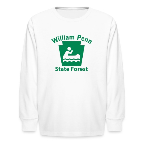 William Penn State Forest Keystone Boat - Kids' Long Sleeve T-Shirt