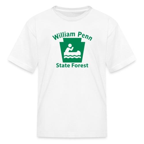 William Penn State Forest Keystone Boat - Kids' T-Shirt