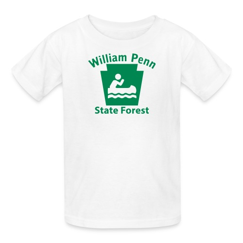 William Penn State Forest Keystone Boat - Kids' T-Shirt